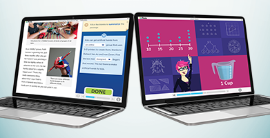 i-Ready Personalized Instruction shown on laptops.